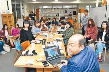 靴下デザインで連携 高岡の助野と富山大芸術文化学部