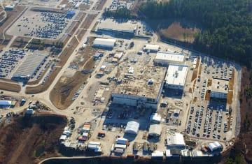 米エネルギー省が建設中止を決めたサバンナリバー核施設のMOX燃料工場(核監視団体サバンナリバーサイトウオッチ提供・共同)