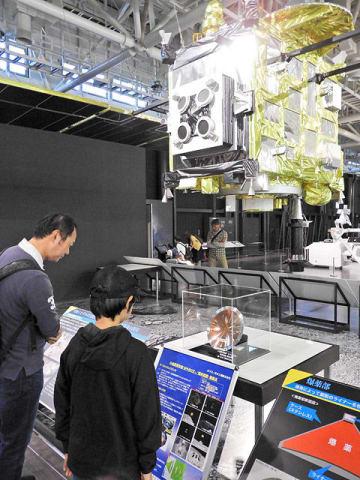 「はやぶさ2」の特別企画展が開かれている会場=各務原市下切町、岐阜かかみがはら航空宇宙博物館