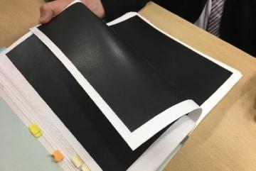 黒塗りにされている報告書の基礎資料