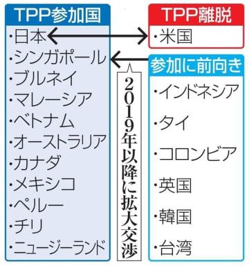 TPPを巡る各国・地域の立場