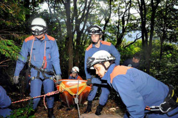 篠山であった山岳救助訓練