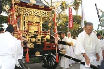 櫛田神社浜宮で神輿潔め 23日から博多おくんち