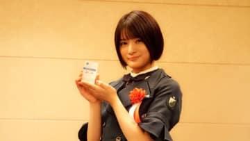 浜松市やらまいか大使に就任した「欅坂46」の織田奈那さん