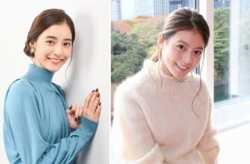 連続ドラマ「SUITS/スーツ」に出演している新木優子さん(左)と今田美桜さん