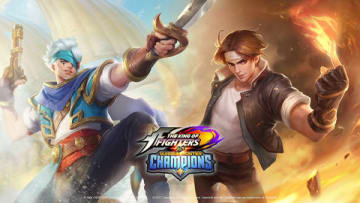 「Dark Quest Champions」に登場する草薙京(右)(C)2018 Gameloft. All rights reserved. Gameloft and the Gameloft logo are trademarks of Gameloft in the U.S. and/or other countries. All other trademarks are the property of their respective owners.