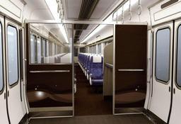 JR西日本が新快速車両に導入する有料座席「Aシート」の内部イメージ(JR西日本提供)