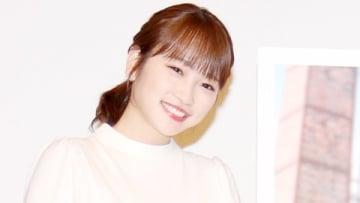 映画「恋のしずく」の舞台あいさつ付き上映会に登場した川栄李奈さん