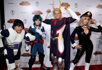 今年9月にロサンゼルスで開催された『僕のヒーローアカデミア THE MOVIE ~2人の英雄(ヒーロー)~ 』ワールドプレミアに出席したコスプレイヤーたち - John Sciulli / Getty Images for Funimation