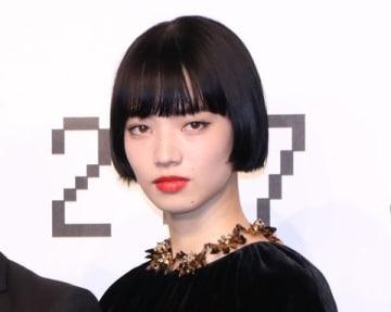 映画「来る」の製作報告会に登場した小松菜奈さん