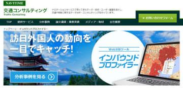 ナビタイムジャパン インバウンドプロファイラー(webサイト)