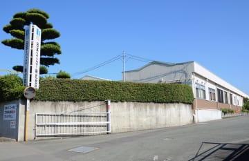 「脱プラ」ストローの研究開発を始める日本ストロー熊本工場=熊本市東区