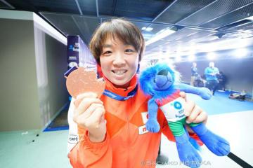 2年連続で銅メダルを手にした皆川博恵