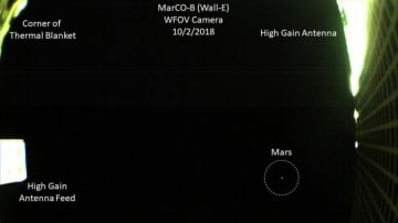 CubeSatからの火星の撮像(c)NASA/JPL-Caltech