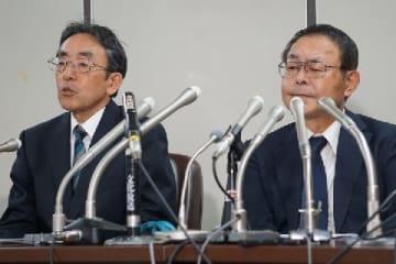 「組織罰を実現する会」の松本副代表(左)と大森代表