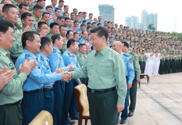 習近平氏、南部戦区を視察 指揮能力の建設促進強調