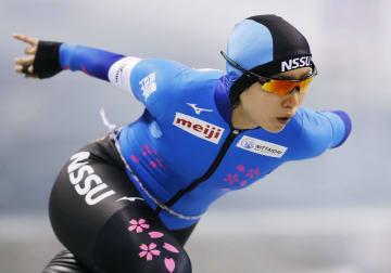 女子1000メートルで優勝した高木美帆=エムウエーブ
