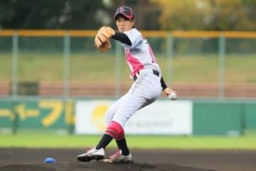 先発のマウンドに立ち好投した日本大学国際関係学部・柳理菜【写真提供:日本女子プロ野球リーグ】