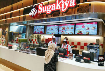 ジャカルタ中心部にある商業施設内のフードコートで営業しているスガキヤ1号店=ジャカルタ(NNA撮影)