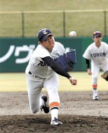 富士大-東北福祉大 165球で完投した東北福祉大・津森