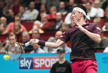 Kei Nishikori at Erste Bank Open final