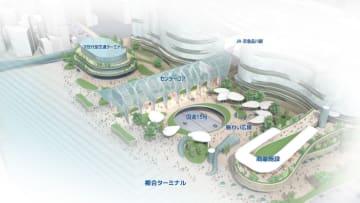 次世代型交通ターミナルや商業施設などを整備する品川駅西口の開発イメージ(国交省東京国道事務所提供)