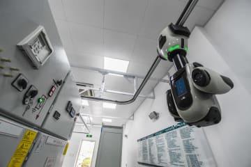 国連世界地理情報大会 巡回検査ロボットを使用