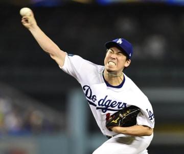 Kenta Maeda of the Los Angeles Dodgers