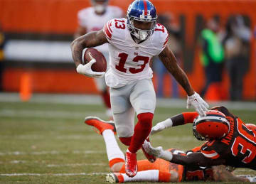 Odell Beckham Jr, Giants Beat Browns 27-13