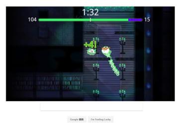 Google、ハロウィン記念の通信対戦ゲームをトップページにて展開―可愛い幽霊操って人魂を敵より確保せよ!