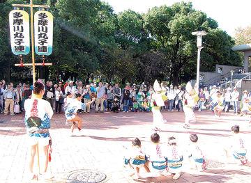 多摩川丸子連による阿波踊り