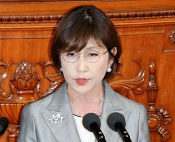 衆院本会議で代表質問する自民党の稲田朋美筆頭副幹事長=10月29日