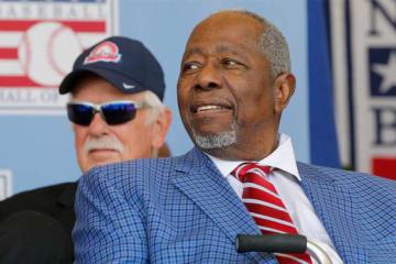 通算755本塁打の記録を持ち、野球殿堂入りしたMLBのレジェンド、ハンク・アーロン氏【写真:Getty Images】