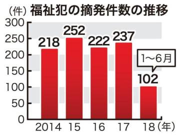 福祉犯の摘発件数の推移