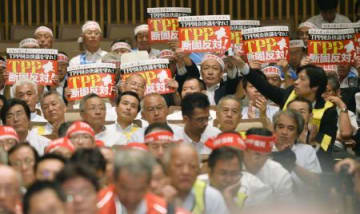 Japanese farmers rally against TPP free trade deal