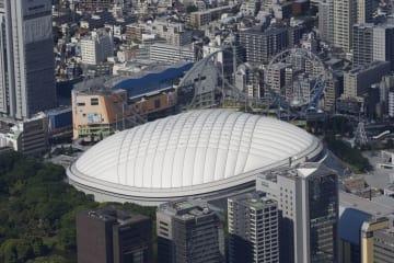 ポール・マッカートニーさんのライブが行われた東京ドーム=東京都文京区
