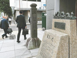 仙台城下の町割りの基点となった芭蕉の辻。にぎわいづくりに向けた機運が高まっている