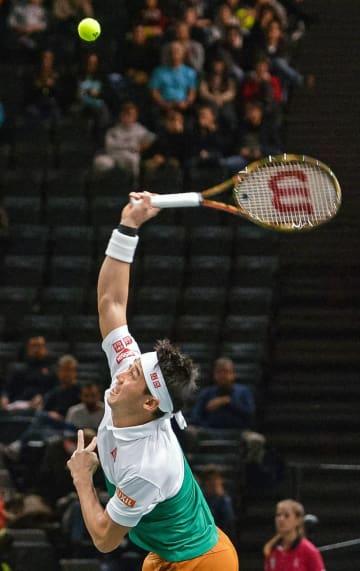 Tennis: Nishikori at Paris Masters