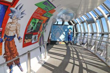 東京スカイツリー(東京都墨田区)で開催中の「ドラゴンボール超 ブロリー」のイベント「超天空塔」