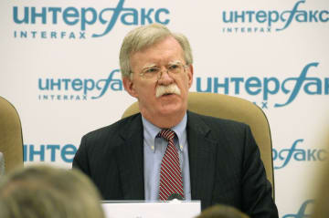 U.S. National Security Adviser Bolton speaks in Moscow