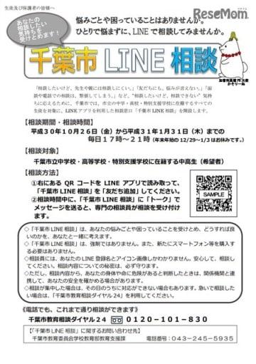 千葉市LINE相談