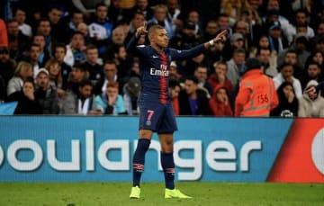 マルセイユ戦で先制ゴールを挙げたムバッペ photo/Getty Images
