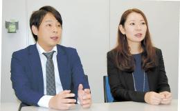 インバウンドの誘致対策を語る小宮さん(左)と松本さん