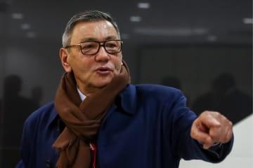 国際ボクシング協会の新会長に選出されたラヒモフ氏=3日、モスクワ(タス=共同)