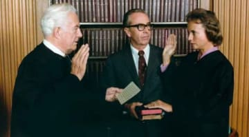 Sandra Day O'Connor Being Sworn in at the Supreme Court
