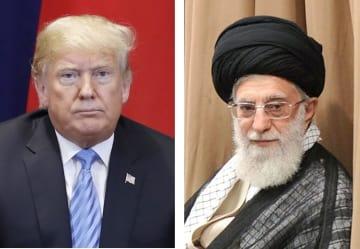 トランプ米大統領、イランの最高指導者ハメネイ師(ゲッティ=共同)