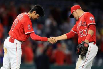 エンゼルス・大谷翔平(左)とマイク・トラウト【写真:Getty Images】