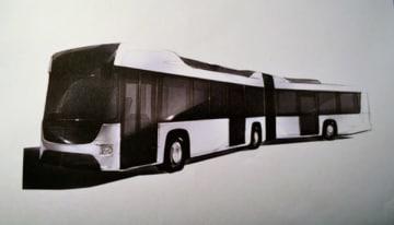 【三重交通が再来年度、伊勢神宮外宮―内宮間のバス路線に導入予定の連結バスのイメージ図】