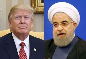 U.S. President Trump and Iranian President Rouhani