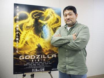 「ポスターのデザインに作品の全てが詰まっている」と話す瀬下寛之監督=東京都内